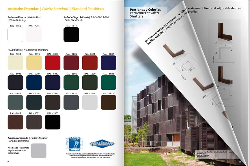catalogue volets battants, persiennes, brise soleil, volets
