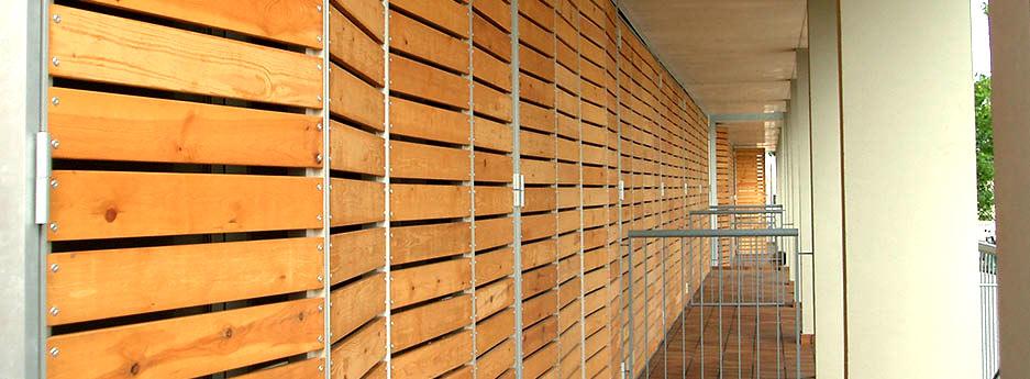 Tamiluz volets persiennes en bois lames fixes brise vues de lames fixes en - Volet coulissant bois leroy merlin ...